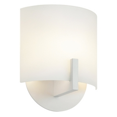 Sonneman Lighting Scudo Textured White LED Sconce