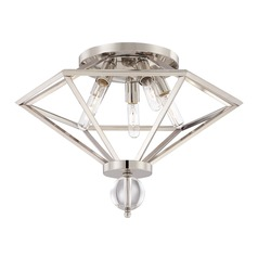 Savoy House Lighting Tekoa Polished Nickel Flushmount Light