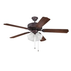 Craftmade Pro Builder 203 Oiled Bronze Ceiling Fan with Light
