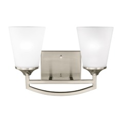 Sea Gull Hanford Brushed Nickel Bathroom Light