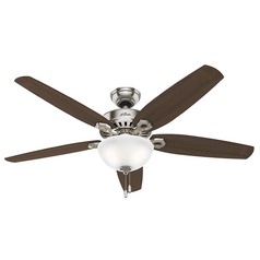 Hunter Fan Company Builder Great Room Brushed Nickel Ceiling Fan with Light