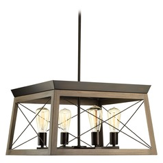 Briarwood Bronze / Faux Painted Wood Pendant Light by Progress Lighting