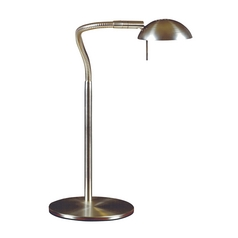 Modern Desk Lamp in Brushed Steel Finish