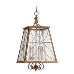 Quorum Lighting Salento French Umber Pendant Light with Square Shade