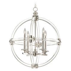 Fine Art Lamps Grosvenor Square Nickel Plated Pendant Light