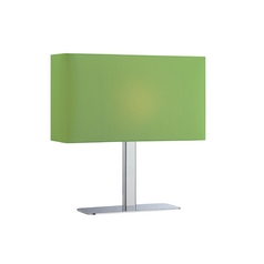 Modern Console & Buffet Lamp with Green Shade in Chrome Finish