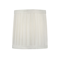 Pleated White Drum Lamp Shade with Clip-On Assembly