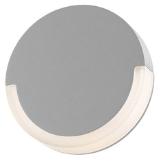 Sonneman Crcl Textured Gray LED Outdoor Wall Light