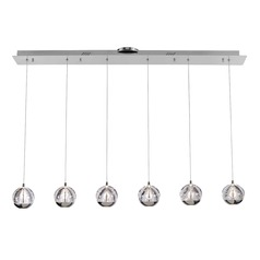 Design Classics Oui Chrome LED Multi-Light Pendant with 6-Lights