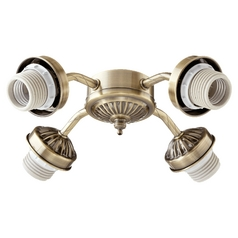Quorum Lighting Antique Brass Fan Light Kit