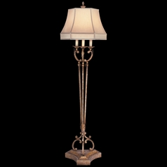Fine Art Lamps a Midsummer Nights Dream Cool Moonlit Patina Floor Lamp with Bell Shade