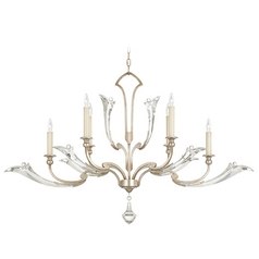 Fine Art Lamps Ice Sculpture Silver Leaf Crystal Chandelier