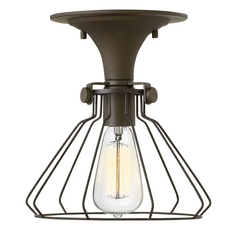 Hinkley Lighting Congress Oil Rubbed Bronze Semi-Flushmount Light
