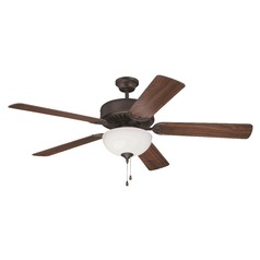 Craftmade Pro Builder 201 Aged Bronze Brushed Ceiling Fan with Light