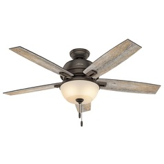 Hunter Fan Company Donegan Bowl Light Onyx Bengal LED Ceiling Fan with Light