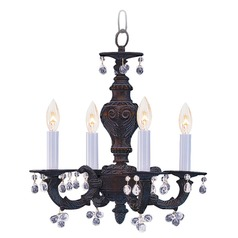 Crystorama Lighting Paris Market Venetian Bronze Crystal Chandelier
