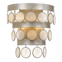 Crystorama Lighting Coco Antique Silver Sconce