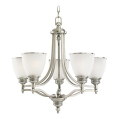 Sea Gull Lighting Laurel Leaf Antique Brushed Nickel LED Chandelier