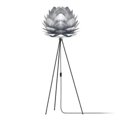 Vita Copenhagen Black Floor Lamp with Abstract Shade