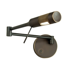 Holtkoetter Modern LED Swing Arm Lamp in Hand-Brushed Old Bronze Finish