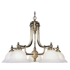 Livex Lighting North Port Antique Brass Chandelier