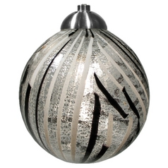 Oggetti Lighting Perle Dark Pewter Mini-Pendant Light with Globe Shade