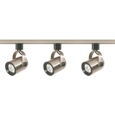 4ft Brushed Nickel Nuvo Lighting Track Light Kit