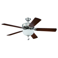 Craftmade Pro Builder 201 Brushed Polished Nickel Ceiling Fan with Light