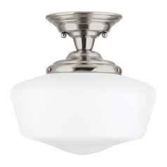 Sea Gull Lighting Academy Brushed Nickel LED Semi-Flushmount Light