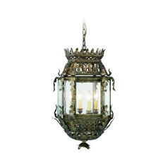 Corbett Lighting Outdoor Hanging Light with Clear Glass in Montrachet Bronze Finish 59-92