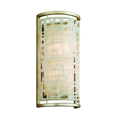 Modern Organic Sconce Silver Leaf Kyoto by Corbett Lighting