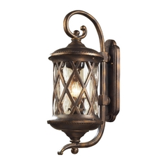 Outdoor Wall Light with Clear Glass in Hazlenut Bronze Finish