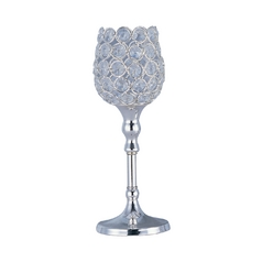 Maxim Lighting Glimmer Plated Silver Candle Holder