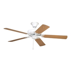 Progress Ceiling Fan Without Light in White Finish