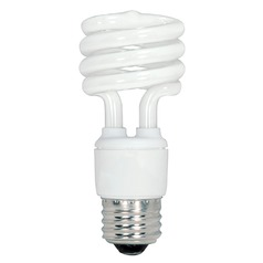 Compact Fluorescent T2 Light Bulb Medium Base 2700K 12V by Satco Lighting