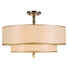 Crystorama Lighting Luxo Antique Brass Semi-Flushmount Light