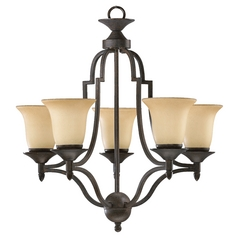 Quorum Lighting Coventry Toasted Sienna Chandelier