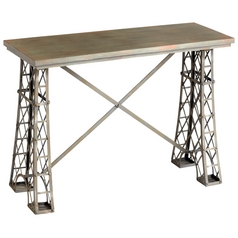 Cyan Design Vallis Raw Steel Table