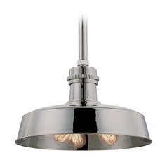 Hudson Valley Lighting Hudson Falls Polished Nickel Pendant Light with Bowl / Dome Shade