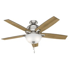 Hunter Fan Company Donegan Bowl Light Brushed Nickel LED Ceiling Fan with Light