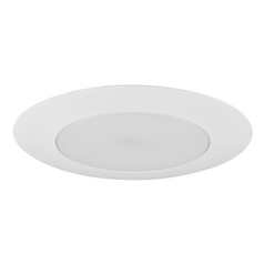 White Alabite Shower Trim with Metal Ring for 6-Inch Recessed Cans