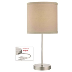 Table Lamp with Cream Linen Lamp Shade