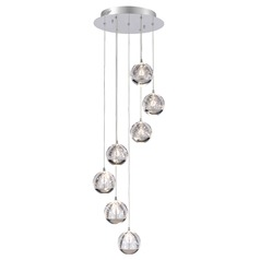 Chrome LED Multi-Light Pendant with 7-Lights