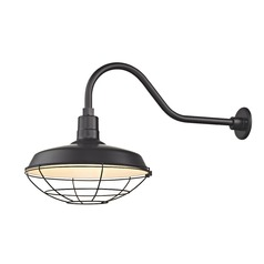 Black Gooseneck Barn Light with 16