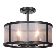Jeremiah Lighting Danbury Matte Black Semi-Flushmount Light