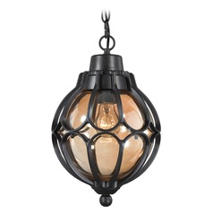 Elk Lighting Madagascar Matte Black Outdoor Hanging Light