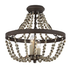 Savoy House Fossil Stone Semi-Flushmount Light