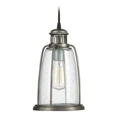 Seeded Glass Outdoor Hanging Light Graphite Capital Lighting