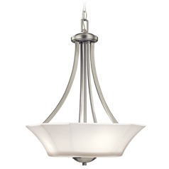 Kichler Lighting Serena Pendant Light with Bowl / Dome Shade