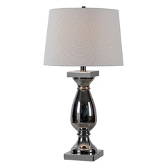 Kenroy Home Antoine Chrome Table Lamp with Empire Shade